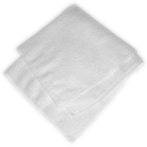 "Carlisle Terry Microfiber Cleaning Cloth 16"" x 16"" - White (3633402)"