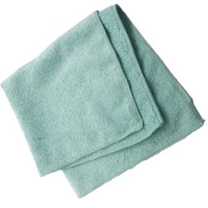 "Carlisle Terry Microfiber Cleaning Cloth 16"" x 16"" - Green (3633409)"
