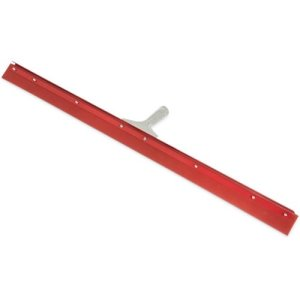 "Carlisle Flo-Pac Straight Red Gum Rubber Floor Squeegee With Heavy Duty Steel Frame 36"" (4007700)"