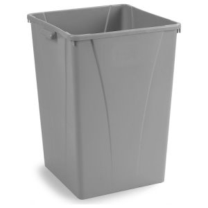 Carlisle Centurian 35 Gallon Square Trash Cans, Gray, 4 Cans (34393523)