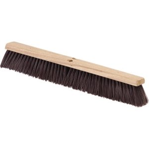 "Carlisle Flo-Pac Crimped Polypropylene Sweep 36"" - Maroon (4520401)"