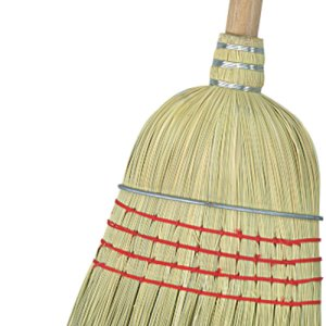 "Carlisle Flo-Pac Warehouse Broom, 56"", Corn, 12 Broom Heads (3685500)"