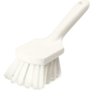 "Carlisle Sparta Bent Handle Utility Scrub Brush With Stiff Polyester Bristles 8"" x 3"" (4054500)"
