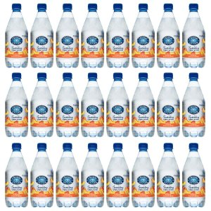 Crystal Geyser Sparkling Spring Water, 18 oz, Peach, 24 Bottles (40111)