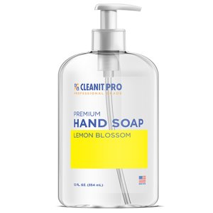 CLEANIT PRO 12 oz Pump Liquid Hand Soap, Lemon Blossom, 6 Bottles (CISHSLB12RCT)