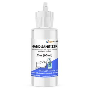 Insolcorp 2 oz Liquid Hand Sanitizer, Flip Top, 25 Bottles (HS-002-001-FLP)