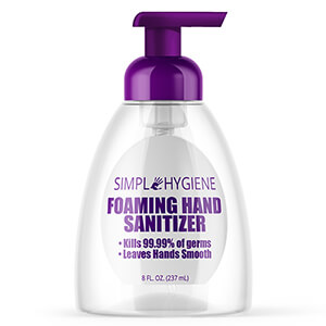 Simple Hygiene Foaming Hand Sanitizer, 8 oz, 24 Bottles (SHP30758)