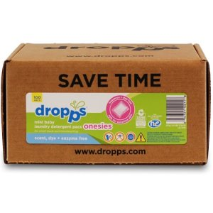 Dropps Baby Onesies Mini Detergent 100ct Pac, Scent, Dye + Enzyme-Free (DRP-052721100118)