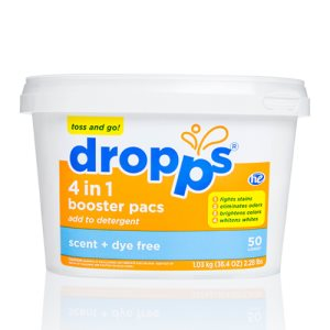 Dropps 4-in-1 Booster 50ct Pacs, Scent + Dye Free (DRP-052721503216)