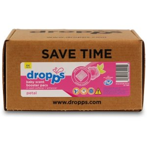 Dropps Baby Scent Booster with In-Wash Softener 50ct Pacs, Petal (DRP-052721504459)