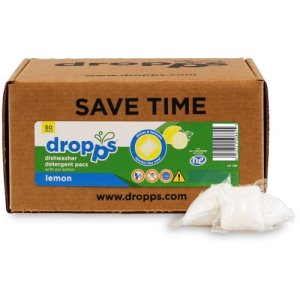 Dropps Dishwasher Detergent 50ct Pacs, Lemon (DRP-052721508815)