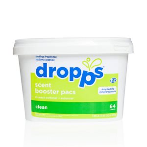 Dropps Scent Booster with In-Wash Softener 64ct Pacs, Clean (DRP-052721644476)