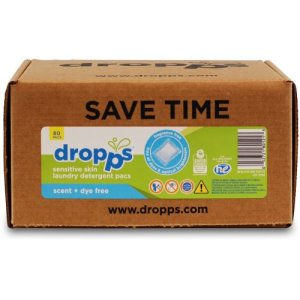 Dropps Laundry Detergent 80ct Pacs, Scent & Dye Free (DRP-052721801213)