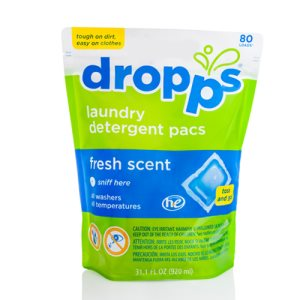 Dropps Laundry Detergent 80ct Pacs, Fresh Scent (DRP-052721802210)