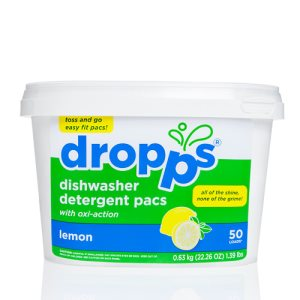 Dropps Automatic Dishwasher Detergent 50 Pacs, Lemon, 6 Tubs (DRP-50881)