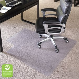 "EverLife ES Robbins Chair Mat for Carpet, High Pile, 45"" x 53"", 1 Each (124161)"