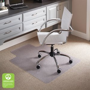 "EverLife ES Robbins Chair Mat for Carpet, Low Pile, 45"" x 53"", 1 Each (128183)"