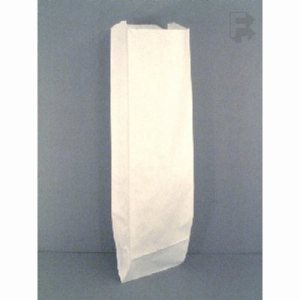 "Fischer Paper Products 5"" X 3"" X 18"" Bread Bag - White Bread/Submarine Bag, 1000/Case (FOR-0092)"