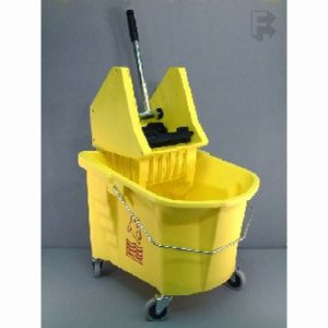Continental Manufacturing 26 Quart Combo Mop / Wringer Bucket - With Sw12 Wringer - Yellow, 1/Each (FOR-0183)