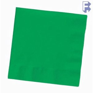 "Converting Inc Emerald Green Beverage Napkin - 10"" X 10"" 2 Ply - Green - Retail Pack (12/50), 12/Case (FOR-0340)"