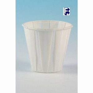 Solo 3.5 oz. Pleated White Water Cups, 5,000 Cups (FOR-0383)