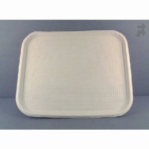 Huhtamaki Chinet Serving Food Tray - White, 100 Trays per Case (FOR-0599)