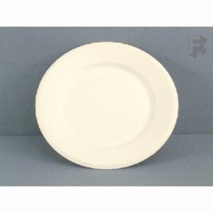 "Huhtamaki Vessel 9"" Chinet Plate - White Plate (2/250), 500 Plates (FOR-0614)"