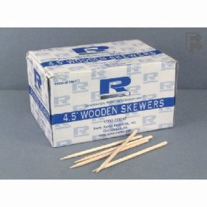 "Royal Paper Products 4-1/2"" Wooden Skewers - 10 Boxes Packed 1000 (10/1000), 10000/Case (FOR-0724)"