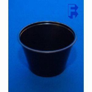 Solo 4 Oz. Black Plastic Souffle Cups, 2,500 Cups (FOR-0727)