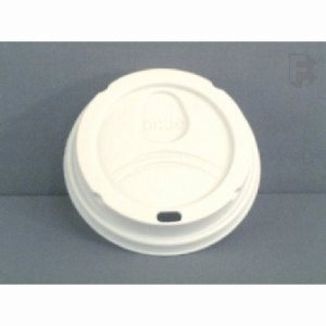 G.P. Dixie 8 Oz. Perfectouch Lid - White Lid For Perfectouch Cup (10/100), 1000/Case (FOR-5851)