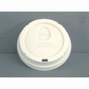 G.P. Dixie 20 Oz. Dome Hot Sip Lid - White Lid For Perfectouch (10/100), 1000/Case (FOR-0830)