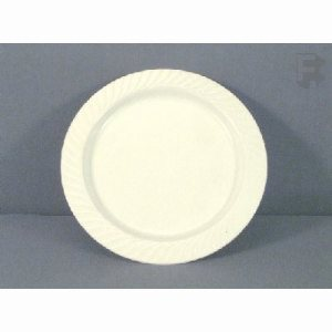 "WNA, Inc. 6"" Opulence Plate - White Rigid Plastic (12/20), 240/Case (FOR-1003)"
