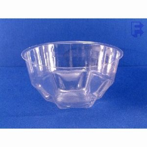 Douglas Stephen Plastics 12 Oz. Clear Sundae Dish - Rigid Plastic (10/100), 1000/Case (FOR-1074)