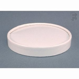 Solo White Paper Spiral Wound Lid, Fits P4325 Container, 500 Lids (FOR-1248)