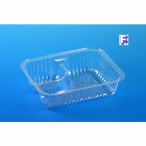 "Pactiv Clearview Nacho/Snack Tray - 2 Compartment  6-1/2"" X 5"" X 1-3/4"" (4/125), 500/Case (FOR-1428)"