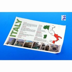 "Solo/Hoffmaster Map Of Italy Placemat - 10-1/4"" X 14-1/2"" Straight Edge, 1000/Case (FOR-1588)"