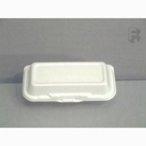 "Dart 9"" Dart Foam Hoagie Containers, White, 500 Hoagie Containers (FOR-2046)"