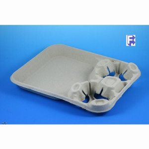 Huhtamaki/Chinet Strongholder 2 Cup Carrier With Food Tray, 100 Trays (FOR-2152)