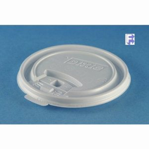 G.P. Dixie 12/16 Oz. Perfectouch Lid - White With Tear Back Lid (10/100), 1000/Case (FOR-2287)