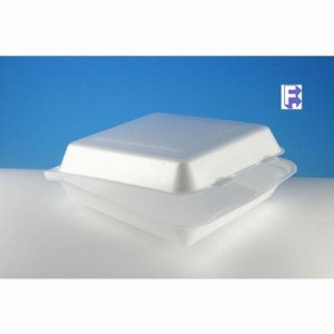Pactiv 1 Compartment Food Container, White, 150 Food Containers (FOR-1593)