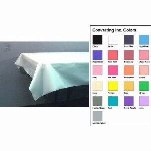 Converting Inc Plastic Tablecover, 54 x 108, Pastel Blue, 24 Covers (FOR-2771)