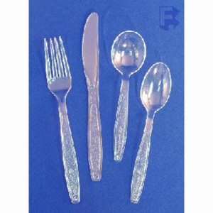 Solo Bulk Guildware Heavy Duty Forks, Clear, 1000 Forks (FOR-2793)