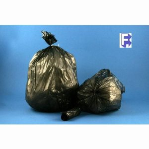 60 Gallon Black Garbage Bags, 38x58, 2mil, 100 Bags (FOR-3504)
