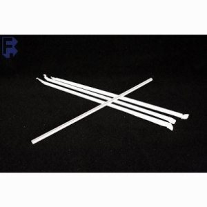 "10.25"" Jumbo Wrapped Straws, White with Red Stripe, 2000 Straws (FOR-3103)"