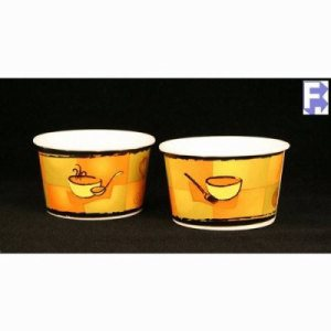 Huhtamaki Chinet 6/8 Oz. Containers, Uses Lid 89107, 1,000 Containers (FOR-3165)