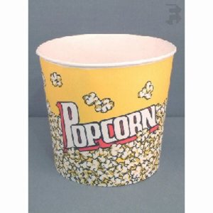 Solo 85 Oz. Popcorn Cup - Grease Resistant, 150/Case (FOR-3269)