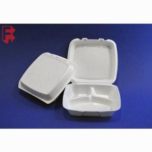 Dart Large Foam 3-Compartment Takeout Containers, 200 Food Containers (FOR-3345)