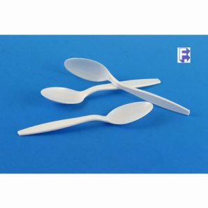 Imported Plastics Mid-Heavy Plastic Spoon, White, 1000 Spoons (FOR-1932)
