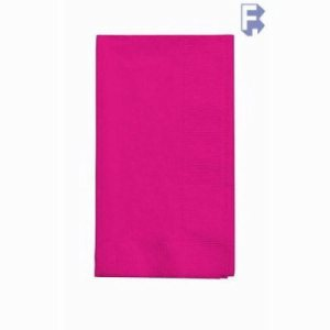 "Converting Inc Hot Magenta Dinner Napkin - 16"" X 16"" 2 Ply - Hot Pink - Retail Pack (12/50), 12/Case (FOR-3575)"