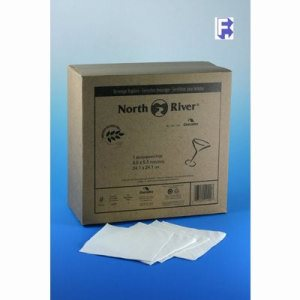 Cascades North River 1 Ply Beverage Napkin, 4,000 Napkins (FOR-3739)